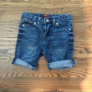 7 For All Mankind Jean shorts size 3T